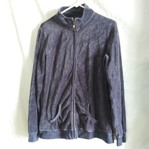 Made For Life Women's Size L Gray Fleece Full Zip